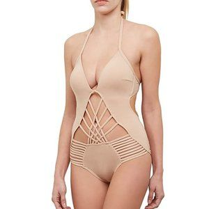 NWT Kenneth Cole Strappy One Piece Swimsuit